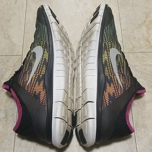 Nike Shoes - Nike Free 3.0 V5 PNT Mango-Neon Training Shoes